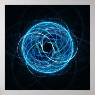 poster espiral cruzado de la esfera del rayo