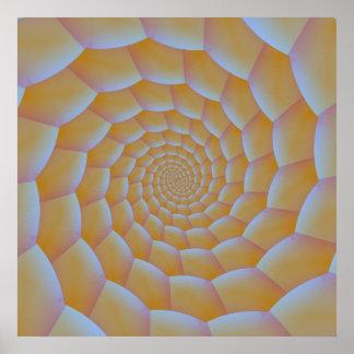 Poster espiral de Caterpillar