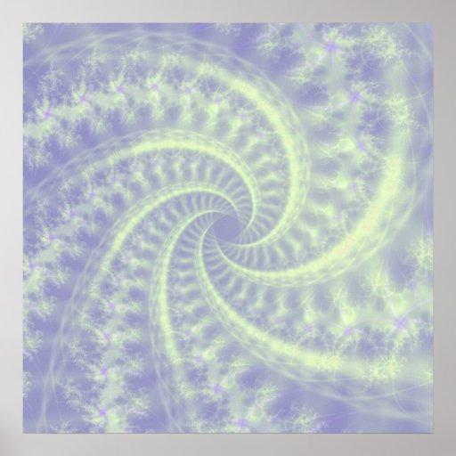 Poster espiral de la estela de vapor póster