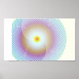 Poster espiral del arco iris