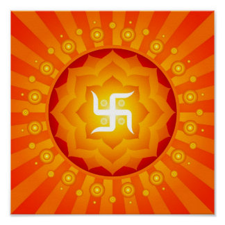 Poster espiritual de la cruz gamada