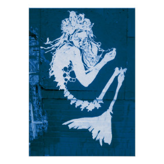 Poster esquelético del arte abstracto de la sirena