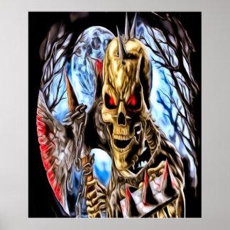 Poster esquelético del guerrero