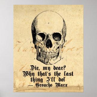 Poster esquelético del humor de Halloween