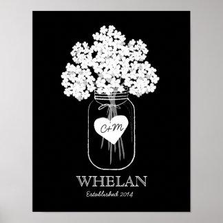 Poster establecido familia de la boda del tarro de póster
