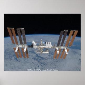 Poster/estación espacial internacional