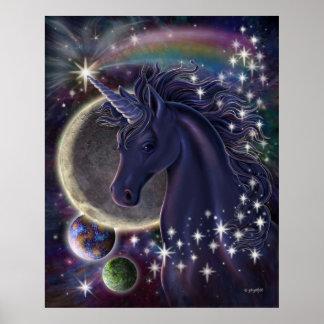 Poster estelar del unicornio