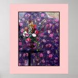 Poster estropeado del ~ 20x24 de las flores/diseño