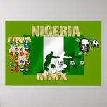Poster estupendo 2010 de Naija Eagles del orgullo