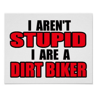 Poster estúpido del motocrós de la bici de la suci