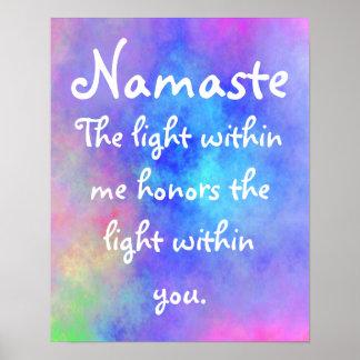 Poster etéreo del significado de Namaste