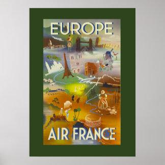 Poster europeo del viaje