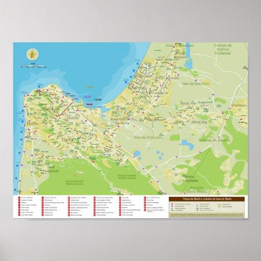 Poster exclusivo de Haifa e Monte Carmelo, Israel