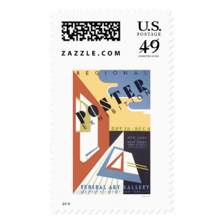 Poster Exhibition 1939 WPA Postage Stamp