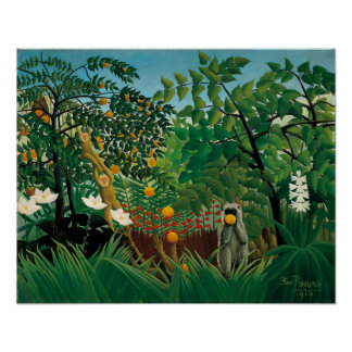 Poster exótico del paisaje de Henri Rousseau