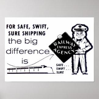 Poster expreso 1959 de la agencia del ferrocarril