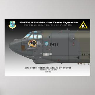 """poster expreso del """"cuervo viejo de 24x36 B-52G"""""""