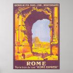 Poster expreso del viaje del vintage de Roma