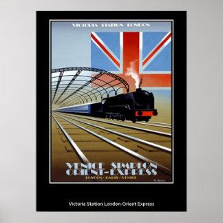 Poster expreso del vintage de Oriente