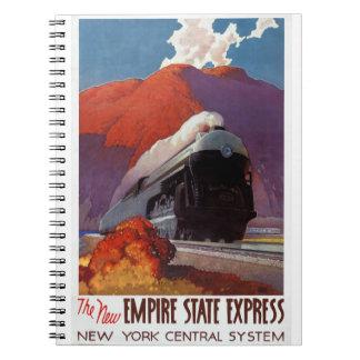 Poster expreso del vintage del estado del imperio notebook
