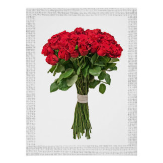 Poster exquisito de las flores - SRF