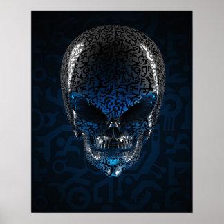 Poster extranjero antiguo del cráneo