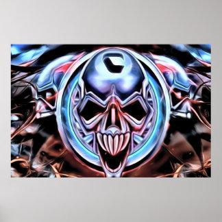 Poster extranjero del cráneo póster