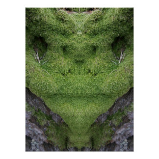 Poster extranjero verde del musgo
