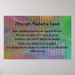 Poster extraño de las leyes de Alabama
