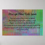 poster extraño de las leyes de Nueva York