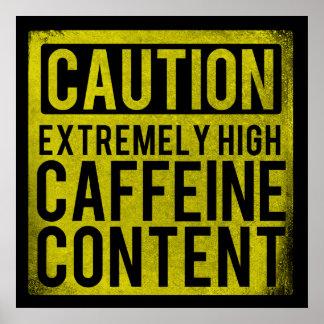 Poster extremadamente alto del contenido del cafeí