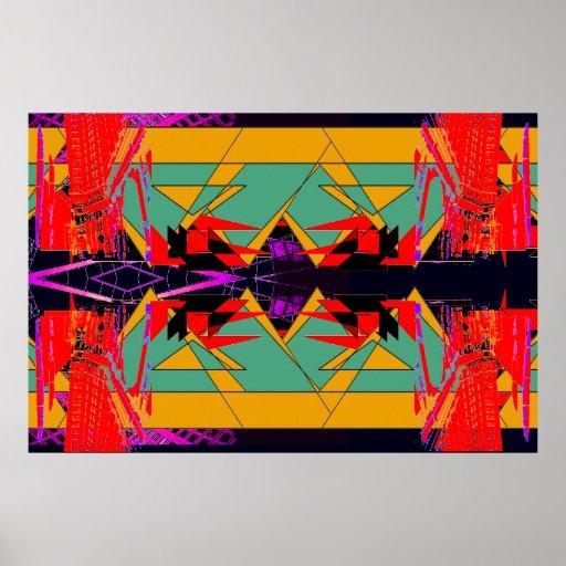 Poster extremo abstracto rojo inusual X1 del diseñ
