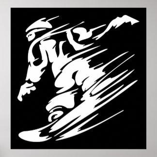 Poster extremo del deporte de la snowboard