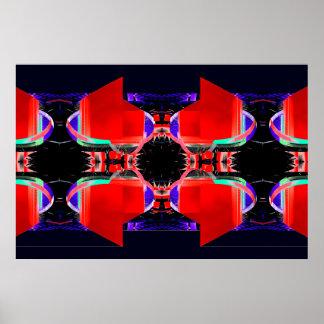 Poster extremo rojo y negro 5 del diseño