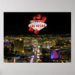 Poster fabuloso de la tira de Las Vegas