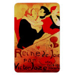 Poster famoso de Reine De Joie 1892 Imán Rectangular