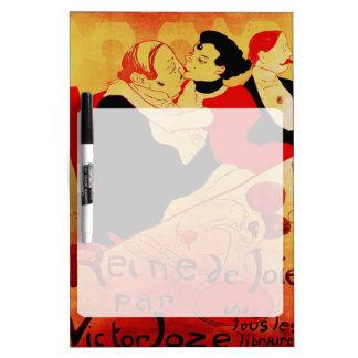 Poster famoso de Reine De Joie 1892 Pizarra Blanca
