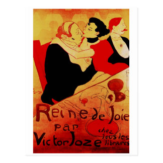 Poster famoso de Reine De Joie 1892 Postales