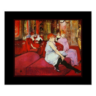 Poster Famous Artists Henri de Toulouse Lautrec