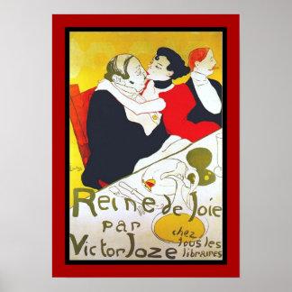 Poster Famous Artists Lautrec reine de joie 1892 Posters