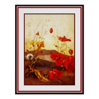 Poster Famous Artists 'Poppies' oil on canvas