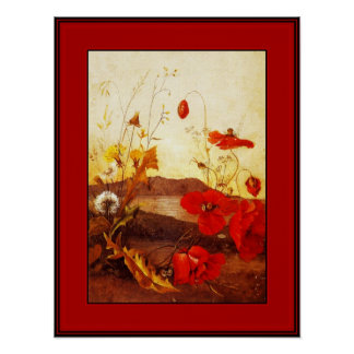 Poster Famous Artists 'Poppies' oil on canvas 2