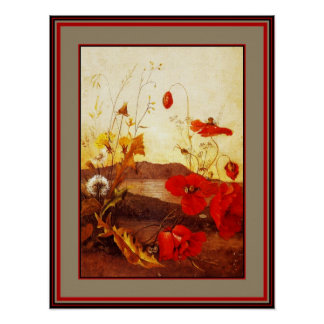 Poster Famous Artists 'Poppies' oil on canvas 3