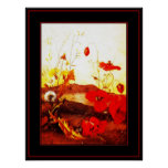 Poster Famous Artists 'Poppies' oil on canvas 4 Print
