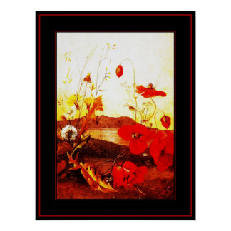 Poster Famous Artists 'Poppies' oil on canvas 4