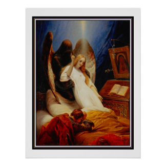 Poster Famous Vintage Angel of the Death 1851