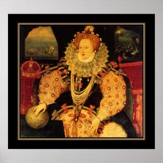 Poster Famous Vintage Elizabeth I of England