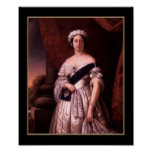 Poster Famous Vintage Queen Victoria 1845 Poster
