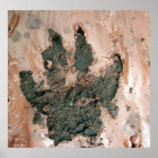 Poster fangoso de la impresión 2 del perro