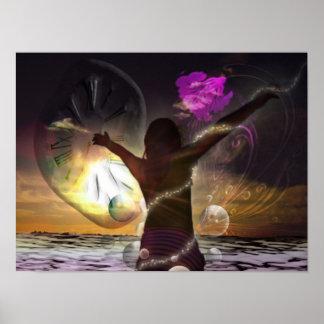 Poster fantasía: El mundo en sus manos/Promodecor